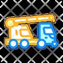 Mobile Crane Color Icon