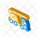Mobile Crane Isometric Icon
