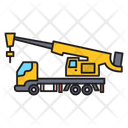 Crane Vehicle Machinery Icon