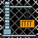 Crane Container Background Icon