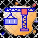 Crane Logistic Crane Container Icon