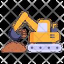 Digging Crane Machinery Industrial Crane Icon