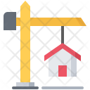 Crane Building House Icon