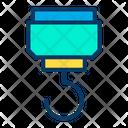 Construction Crane Hook Lifting Hook Icon