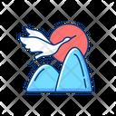 Crane Chinese Bird Icon
