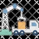 Crane Box Lifting Icon
