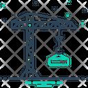 Crane Building Constructing Icon