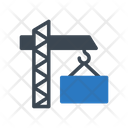 Crane Container Shipping Icon
