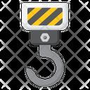 Crane Hook Construction Crane Lifting Hook Icon