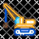 Crane Machine Building Icon