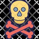Cranium Crossbones Halloween Icon