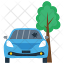 Crash Into Tree Icon