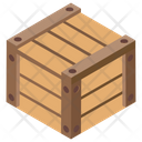 Cardboard Sealed Box Container Icon