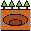 Crater Landscape Nature Icon