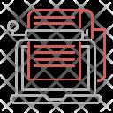 Crawler Bots Copywriting Icon