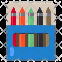 Crayon School Study Icon