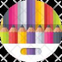 Crayons Pencils Color Icon