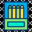 Crayons Box Drawing Design Icon