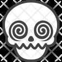 Crazy Skeleton Halloween Icon