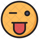 Crazy Emoji Expression Icon