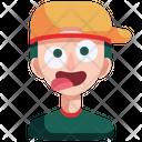 Crazy Funny Emoji Icon
