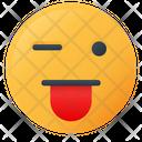 Crazy Face Emoji Icon