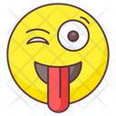 Crazy Emoji Crazy Expression Emotag Icon