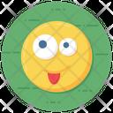 Emoticon Crazy Face Expression Icon