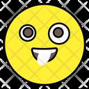Crazy Face Emotion Emoticon Icon