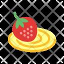 Cream Swiss Roll Icon