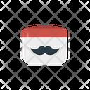 Cream Mustache Tube Icon