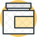 Cream Jar Spa Icon