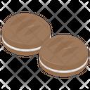 Cream Cookies Icon