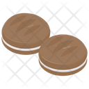 Cream Cookies Sandwich Biscuit Biscuit Icon