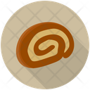 Cream Roll Swiss Roll Cake Slice Icon