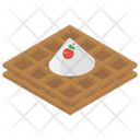 Cream Waffle Wafer Dessert Icon