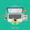 Creat Idea Typing Icon