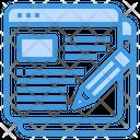 Blogger Writer Pencil Icon