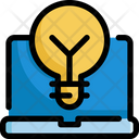 Lightbulb Laptop Idea Icon