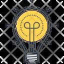 Creative Bulb Creative Process Icon