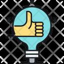 Creative Innovative Thumbs Up Icon