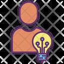 Ihuman Bulb Creative Artificial Intelligence Creative Artificial Idea Icon