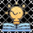 Idea Lamp Book Icon