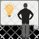 Creative Businessman Creative Person Smart Businessman Icon