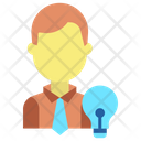 Creative Businessman Idea Icon
