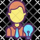Creative Businessman Idea Icon