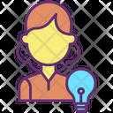Creative Businesswoman Idea Icon