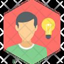 Man Idea Innovation Icon