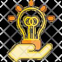 Creative Hand Bulb Icon