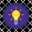 Creative Idea Brainstorm Bulb Icon